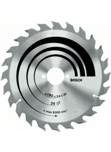BOSCH 2608640621-BOSCH CIRCULAR SAW BLADE OPTILINE WOOD 210 X 30 X 2.8 MM, 24-klium