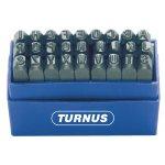 TURNUS 331-004-TURNUS 331-004 SET SLAGLETTERS, EXTRA ZWARE KWALITEIT, GLANSVERNIKKELD, 27-DELIG-klium