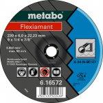 METABO 616730000-METABO FLEXIAMANT 125X6,0X22,23 STAAL, AFBRAAMSCHIJF, GEBOGEN UITVOERING-klium