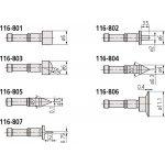 MITUTOYO 116-804-Optionele accessoires inch-klium