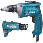 MAKITA FS6300RJX2-MAKITA FS6300RJX2 Schroefmachine voor gipsplaat 570W + schroeflint adapter-klium