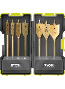 RYOBI 5132002252-RYOBI RAK07SB ACCESSORIES KIT 7 PIECES SPADE BIT-klium