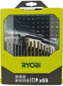 RYOBI 5132002687-RYOBI RAK69MIX ACCESSORIES KIT 69 PIECES MIX-klium