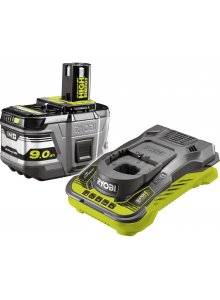 RYOBI 5133004421-RYOBI RC18150-190 18V ONE + LITHIUM BATTERY HIGH ENERGY 9.0AH + CHARGER-klium