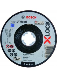 BOSCH 2608619254-BOSCH X-LOCK GRINDING DISC EXPERT FOR METAL 125X1.6X22.23MM, STRAIGHT-klium