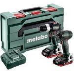 METABO 685124000-METABO combo set 18 V SB 18 LT BL + SSD 18 LTX 200 BL in koffer (2x 18V 4.0Ah + lader)-klium
