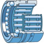 SKF NX 15 Z-Gecombineerd lager: naaldlager/kogeltaatslager-klium